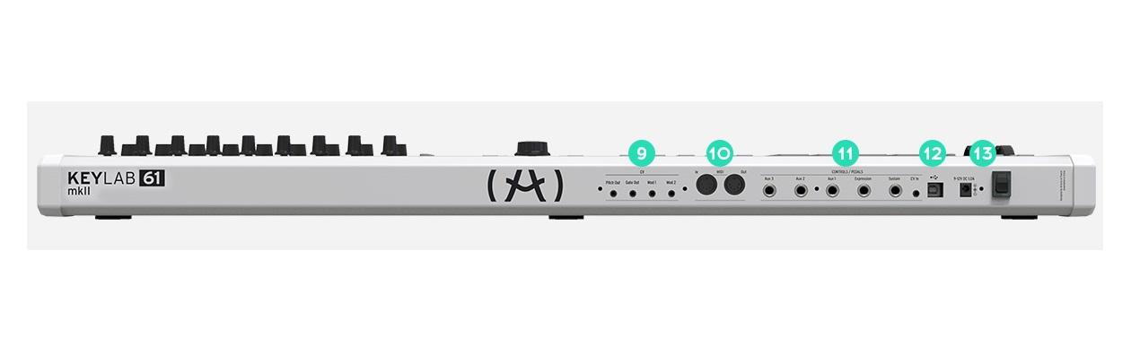 ARTURIA KEYLAB61-MKII CONTROLLER BIANCO MIDI USB TASTIERA 61 TASTI SEMIPESATI BIANCA 1