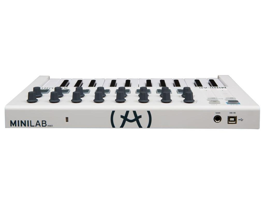 ARTURIA MINILAB MKII NUOVO CONTROLLER MIDI USB 25 TASTI MINI 16 ENCODER 16 PAD MK2 1