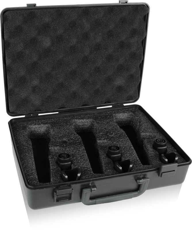 BEHRINGER XM1800S KIT 3 MICROFONI DINAMICI CARDIODI + 3 CLAMPS + CUSTODIA SET PER CANTO E KARAOKE 3