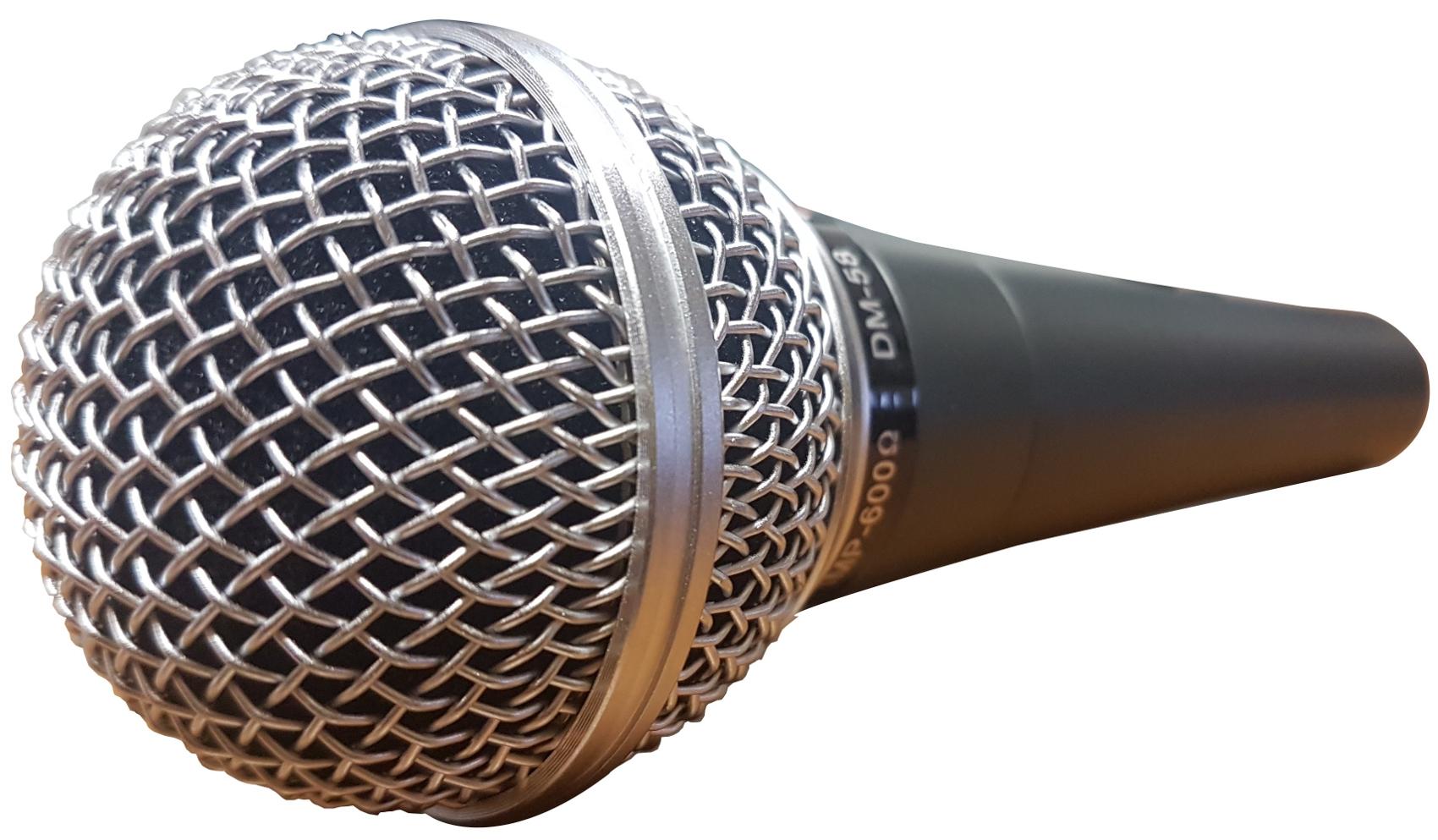 EXTREME DM58 MICROFONO DINAMICO PER VOCE IMITAZIONE SHURE SM58 + CLAMP + CAVO + CUSTODIA RIGIDA 2