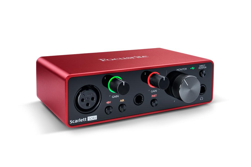 FOCUSRITE SCARLETT SOLO INTERFACCIA AUDIO USB 2 IN 2 OUT SCHEDA AUDIO TERZA GENERAZIONE ( 3RD GEN ) GENERATION MKIII 2