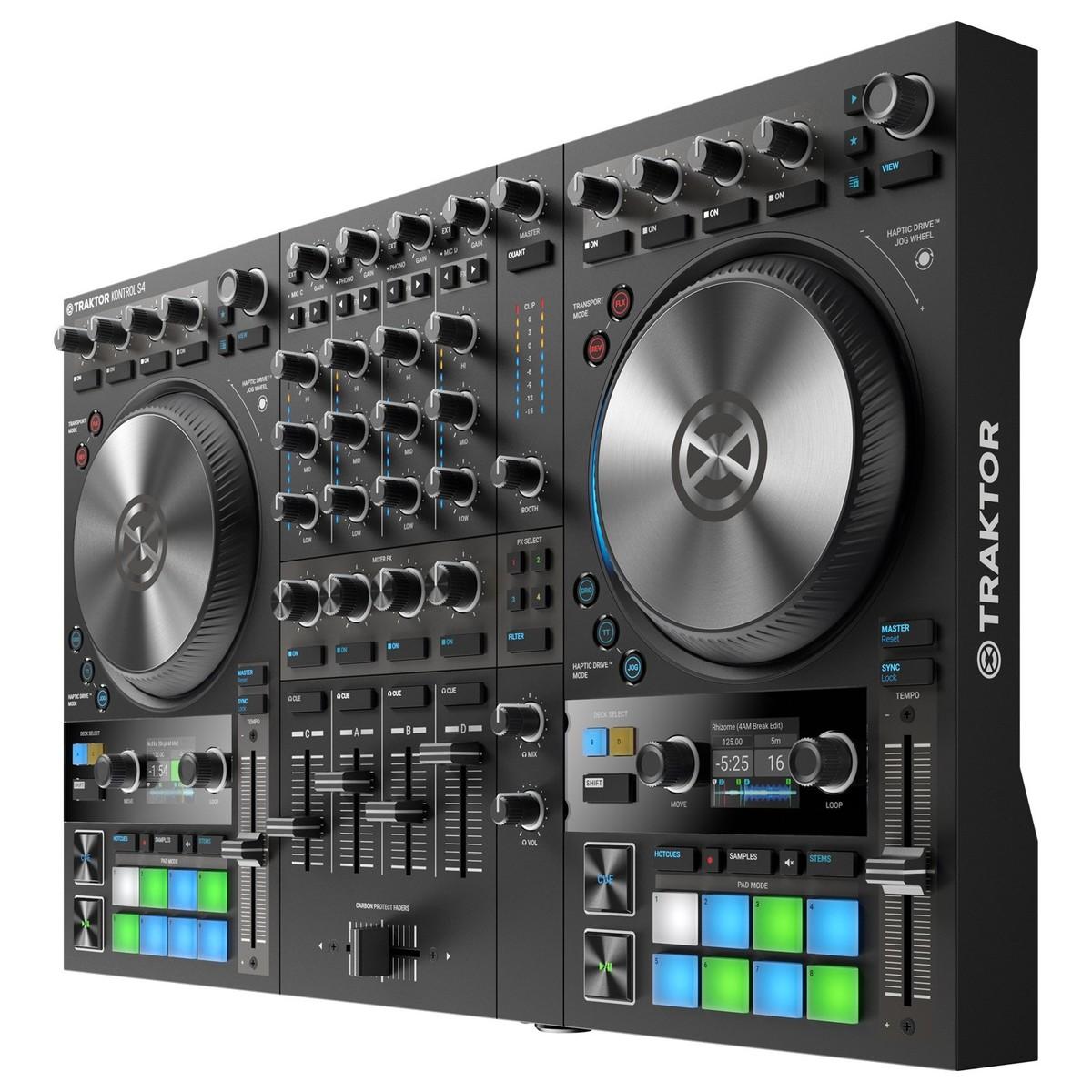 NATIVE INSTRUMENTS TRAKTOR KONTROL S4 MKIII CONTROLLER DJ MIDI MK3 4 CANALI 24 BIT 96KHZ 4