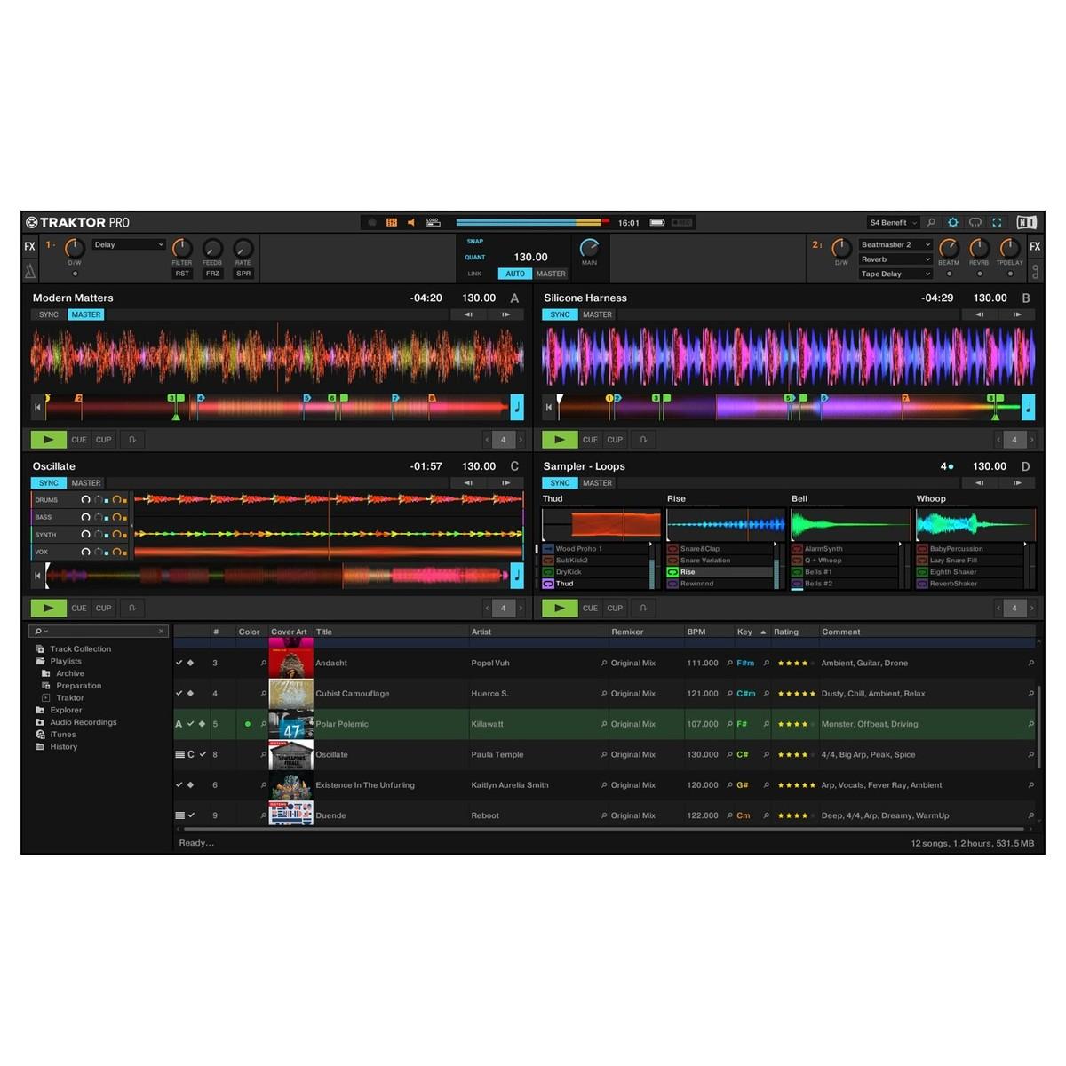 NATIVE INSTRUMENTS TRAKTOR KONTROL S4 MKIII CONTROLLER DJ MIDI MK3 4 CANALI 24 BIT 96KHZ 6