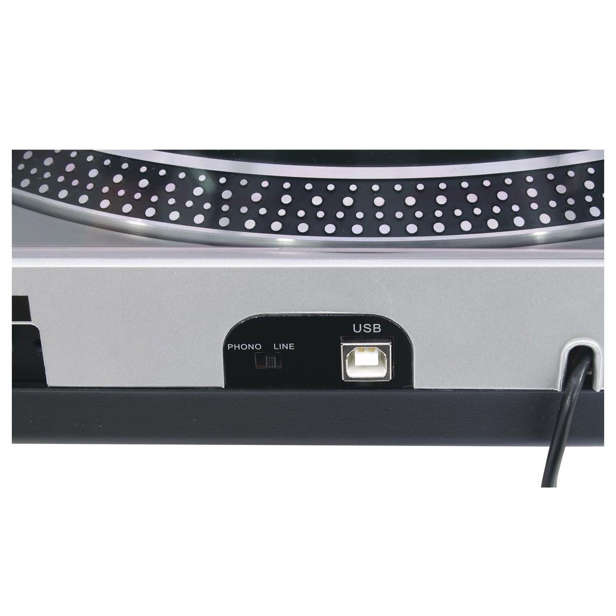 OMNITRONIC DD-2550 USB GIRADISCHI PER DJ TRAZIONE DIRETTA SILVER 3