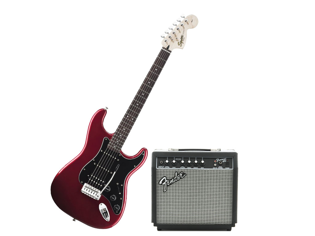 Fender squier affinity pack 15g red pacchetto chitarra for Ganci per appendere chitarre