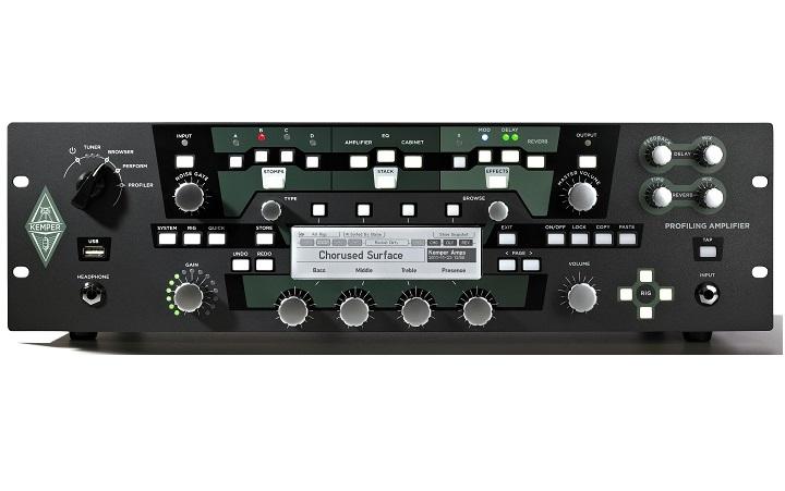 KEMPER PROFILER POWER RACK + KEMPER PROFILER REMOTE TESTATA PER CHITARRA A RACK 19 CON PROFILAZIONE DIGITALE 600W + PEDALIERA 1