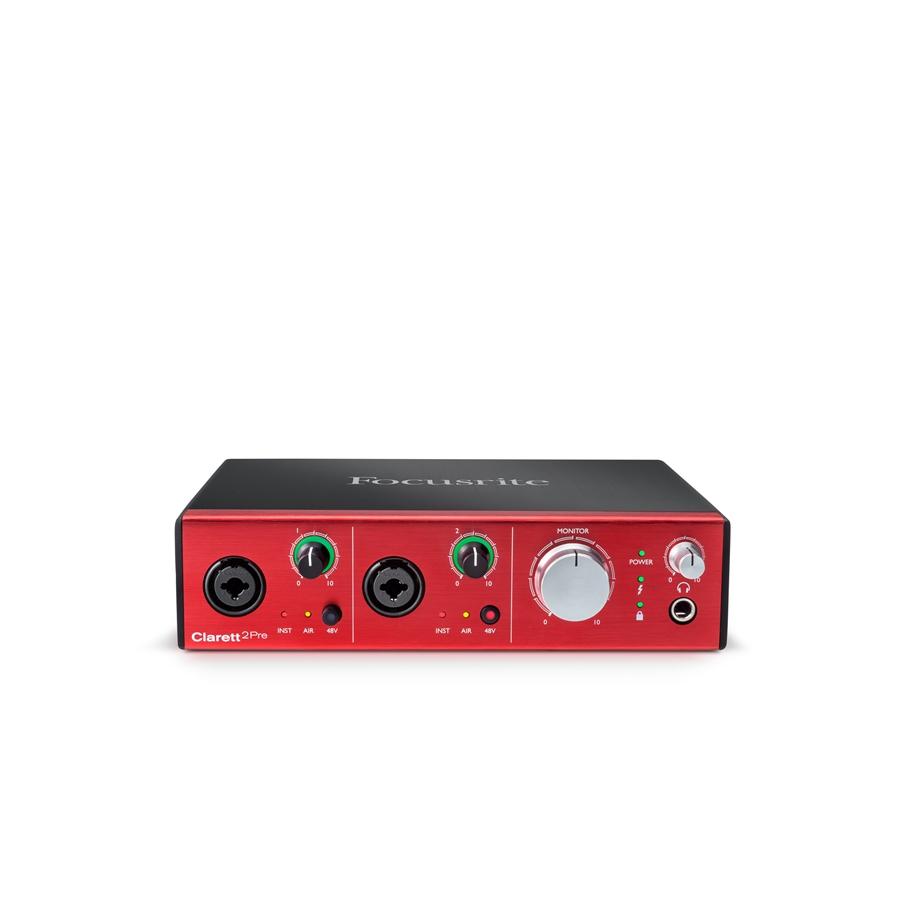 FOCUSRITE CLARETT 2-PRE INTERFACCIA AUDIO THUNDERBOLT 10 IN 4 OUT ADAT MIDI SUITE PLUGIN RED2-3 4