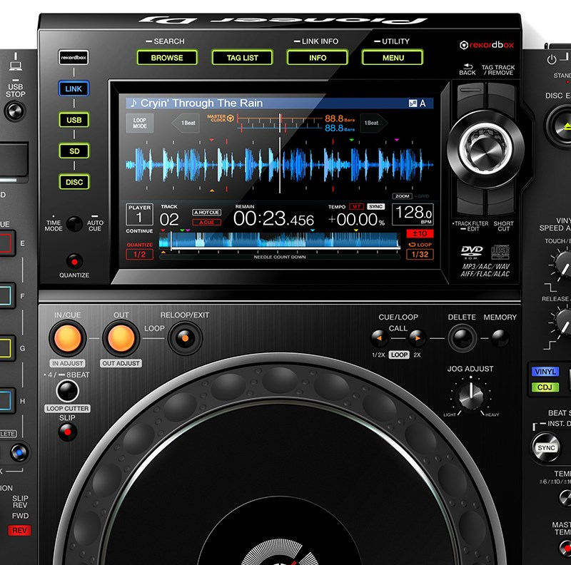 PIONEER CDJ 2000-NXS NEXUS 2 BLACK CD PLAYER PROFESSIONALE PER DJ 3