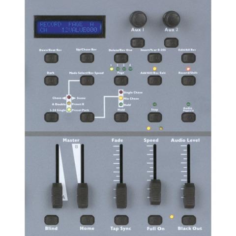 SHOWTEC SR-2412 CENTRALINA LUCI DMX 48 CANALI PATCHABILI E 2 AUX 2