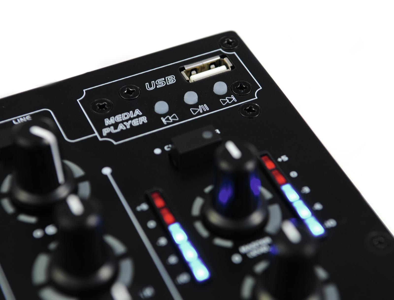 OMNITRONIC PM 311P MIXER DJ 3 CANALI CON PLAYER MP3 USB 3