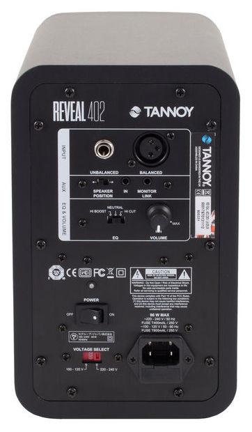 TANNOY REVEAL 402 STUDIO MONITOR ATTIVO BIAMPLIFICATO 4 0.75 50 WATT 1