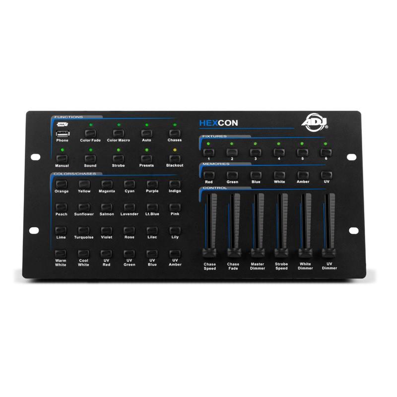 AMERICAN DJ HEXCON CONTROLLER DMX 36 CANALI PER FARI LED RGBAW-UV