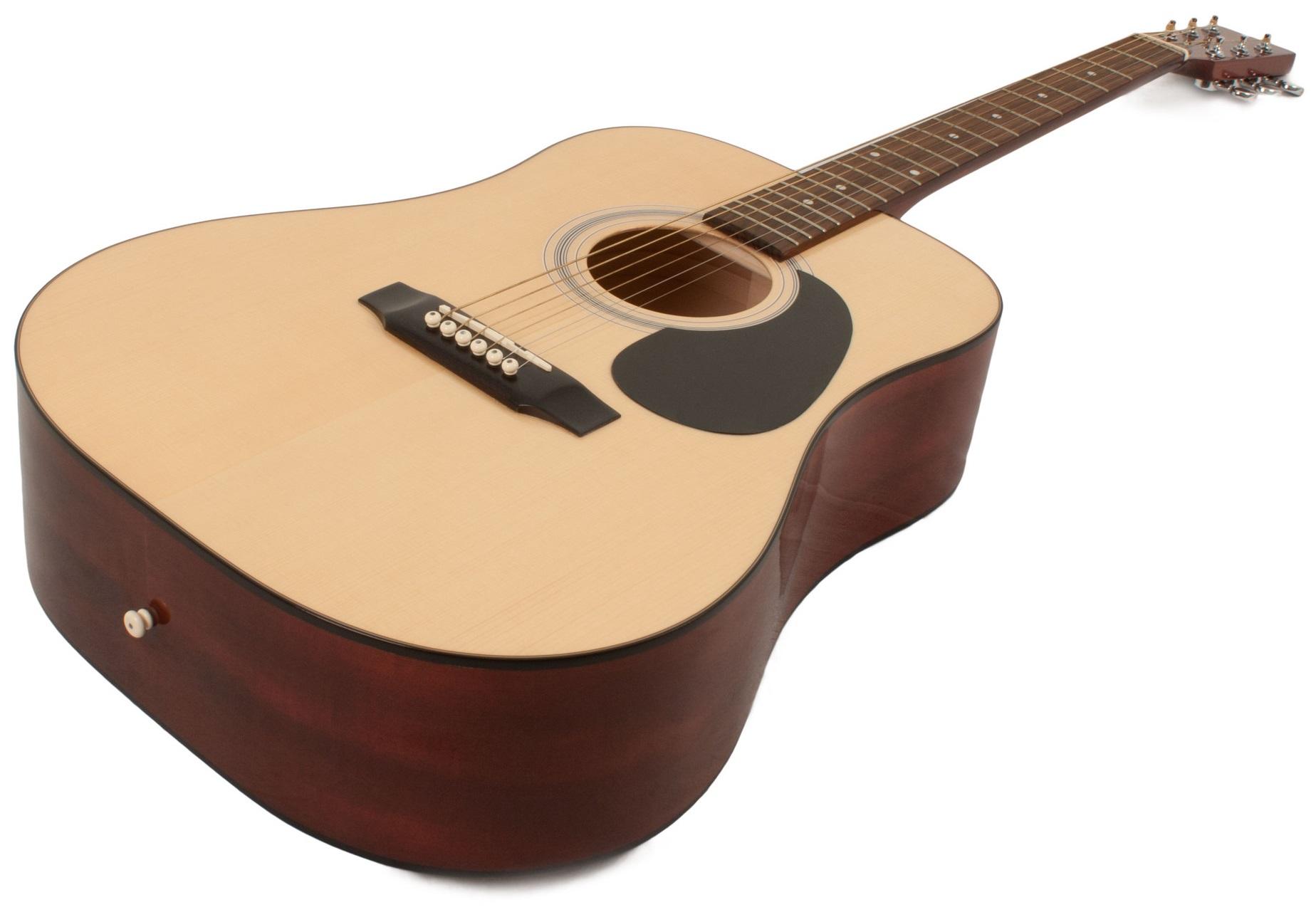Chitarra acustica 4 4 made in europe top abete massello for Ganci per appendere chitarre
