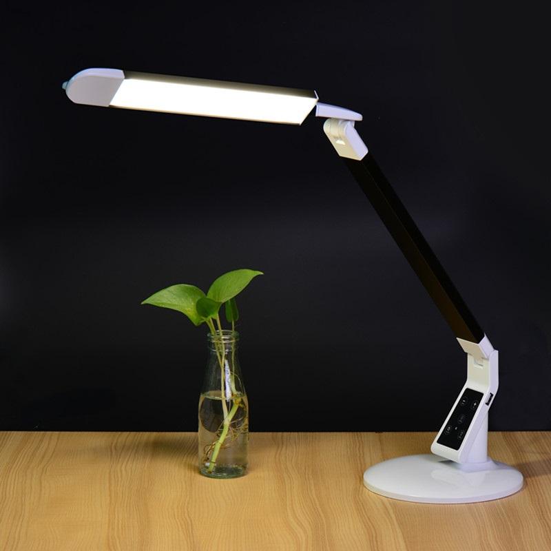 EXTREME DESK LAMP X100 BLACK LAMPADA REGOLABILE DA TAVOLO 60 LED CONTROLLO TEMPERATURA COLORE INTENSITA' TIMEOUT MEMORIA BIANCA E NERA 3