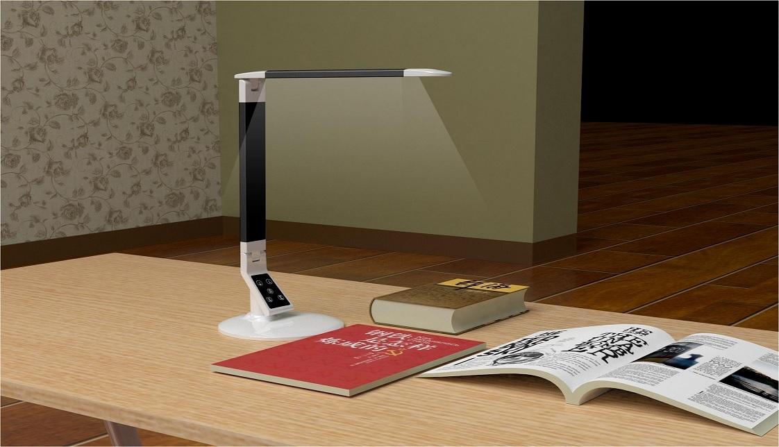 EXTREME DESK LAMP X100 BLACK LAMPADA REGOLABILE DA TAVOLO 60 LED CONTROLLO TEMPERATURA COLORE INTENSITA' TIMEOUT MEMORIA BIANCA E NERA 6