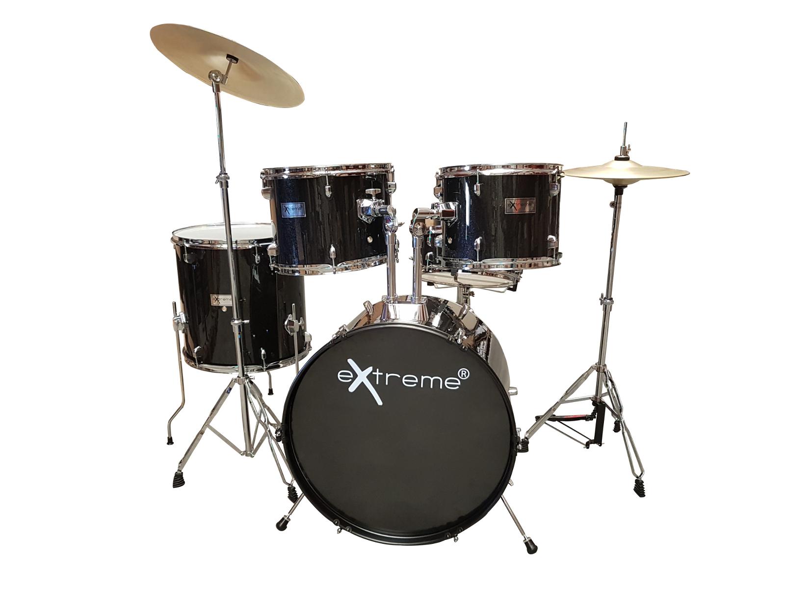 Extreme d glisten black batteria acustica pezzi piatti