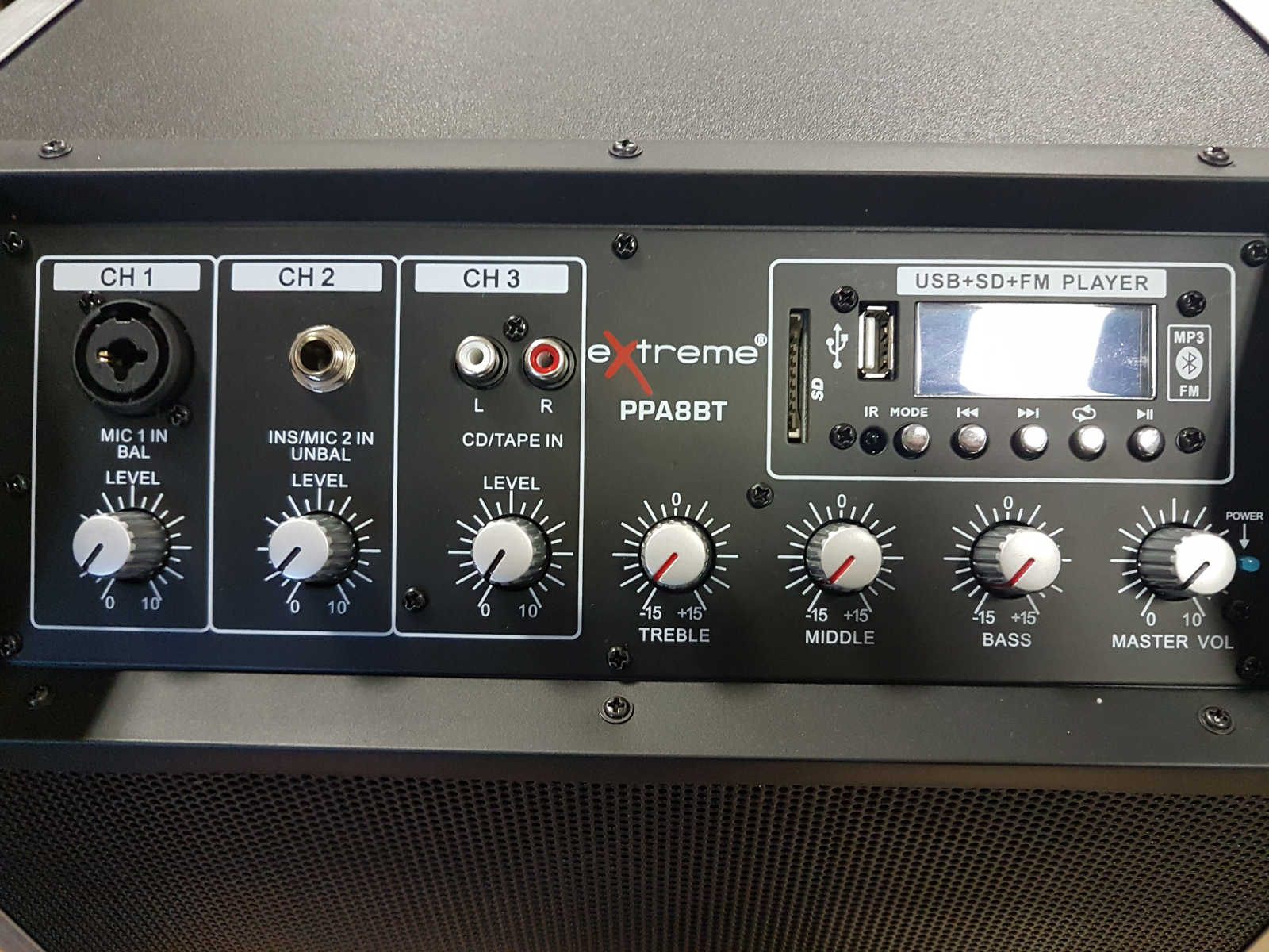 extreme ppa8bt speaker box combo chitarra e voce a batteria 3 canali 50 watt eq 3 bande. Black Bedroom Furniture Sets. Home Design Ideas