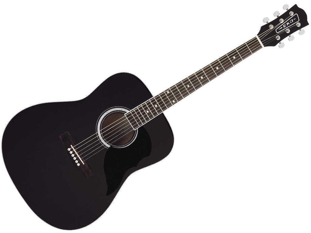 Eko ranger 6 black chitarra acustica folk colore nero for Ganci per appendere chitarre