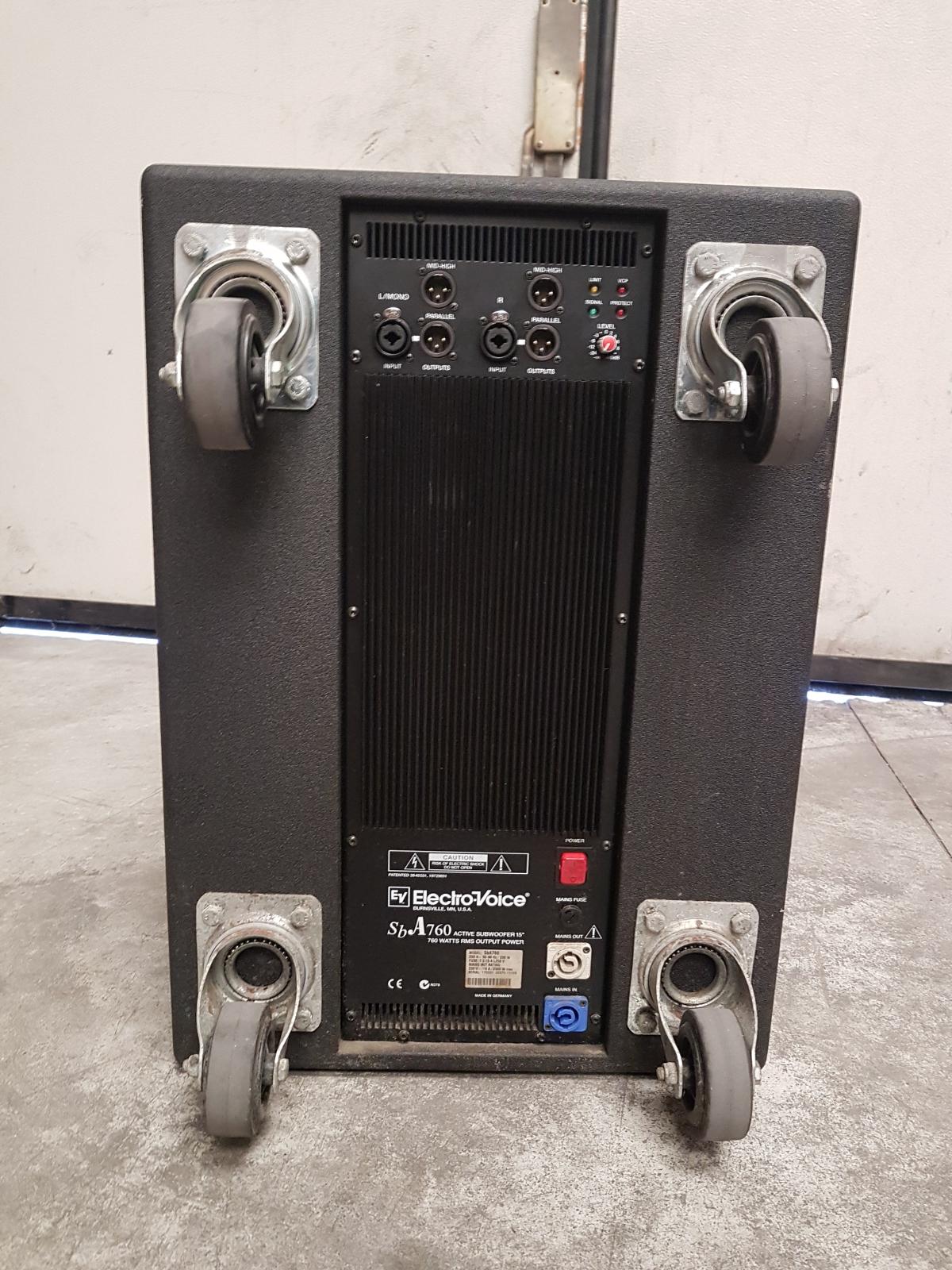 Electrovoice sb a760 subwoofer attivo 760 watt woofer 15 usato - Subwoofer attivo casa ...