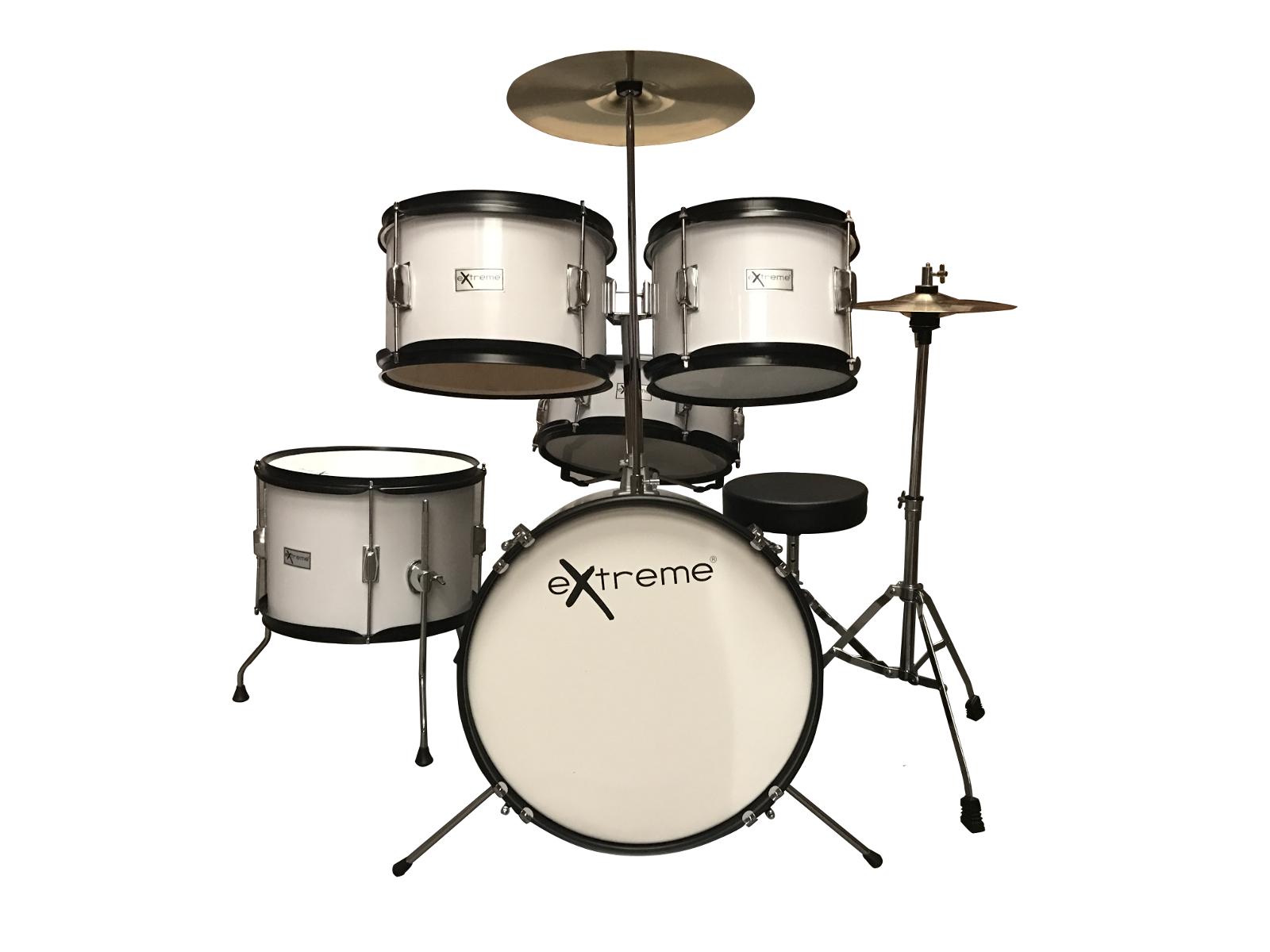 Extreme d j white batteria acustica junior per bambini