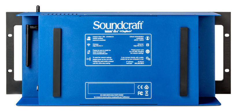 SOUNDCRAFT UI24R MIXER 24 CANALI A RACK REGISTRATORE MUTITRACCIA WI-FI USB 1