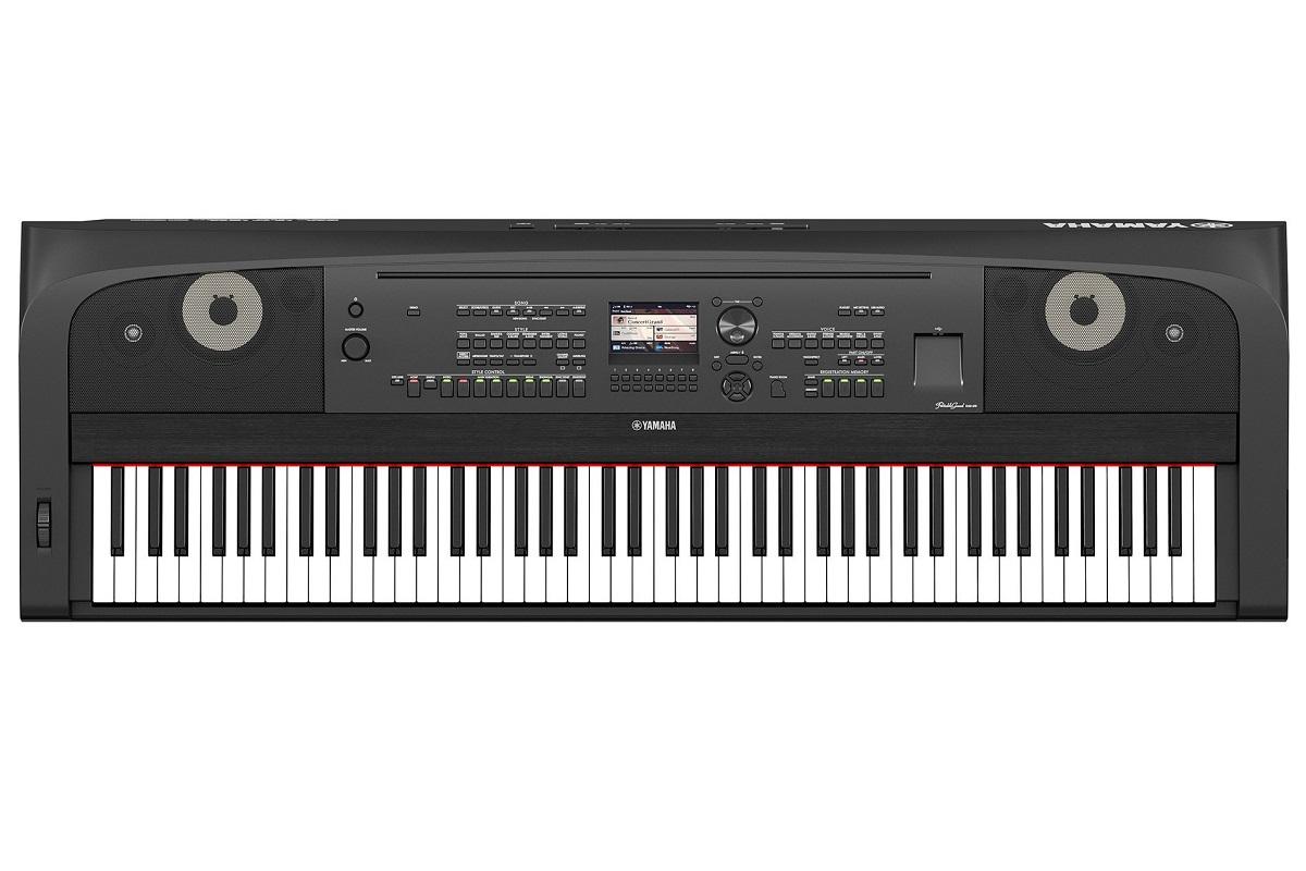 YAMAHA DGX670 BLACK PIANOFORTE DIGITALE ARRANGER 88 TASTI GRADED HAMMER COLORE NERO 1