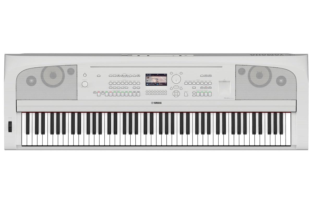 YAMAHA DGX670W WHITE PIANOFORTE DIGITALE ARRANGER DGX670 88 TASTI GRADED HAMMER COLORE BIANCO 1