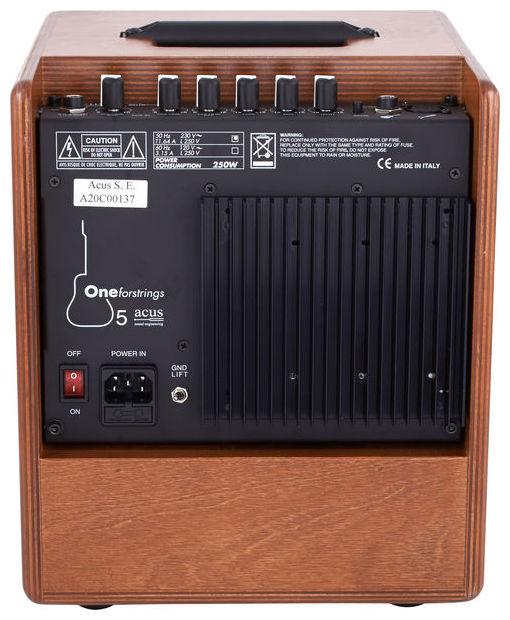 ACUS SOUND ONE FORSTRINGS 5 AMPLIFICATORE PER CHITARRA ACUSTICA BIAMPLIFICATO 5 + TWEETER 50 WATT 1 INPUT LINE + MICROFONO 1