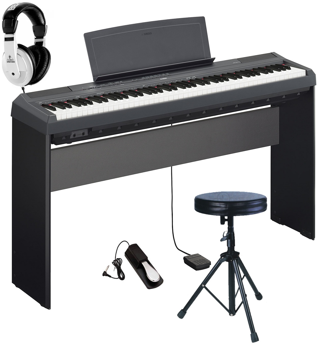 yamaha p 115 b pianoforte stage digitale extreme sgabello. Black Bedroom Furniture Sets. Home Design Ideas