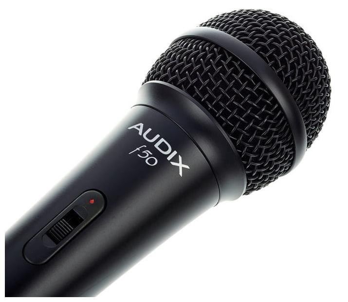 AUDIX F50S MICROFONO DINAMICO CARDIOIDE PER VOCE CON SWITCH ONOFF 2