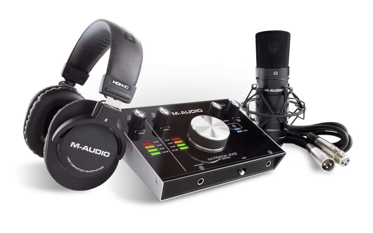 m audio m track 2x2 vocal studio pro kit home recording con microfono scheda audio usb cuffie e. Black Bedroom Furniture Sets. Home Design Ideas