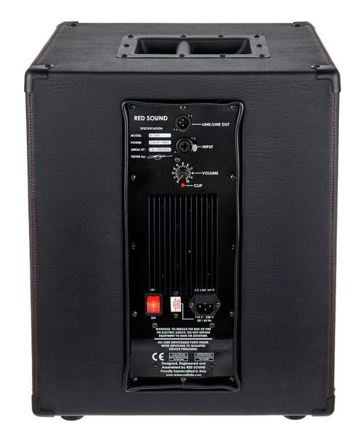 RED SOUND RS-LG12 ACTIVE BLACK CABINET ATTIVO 250 WATT RMS PER PEDALIERA HEADRUSH REALIZZATO A MANO COLORE NERO 1