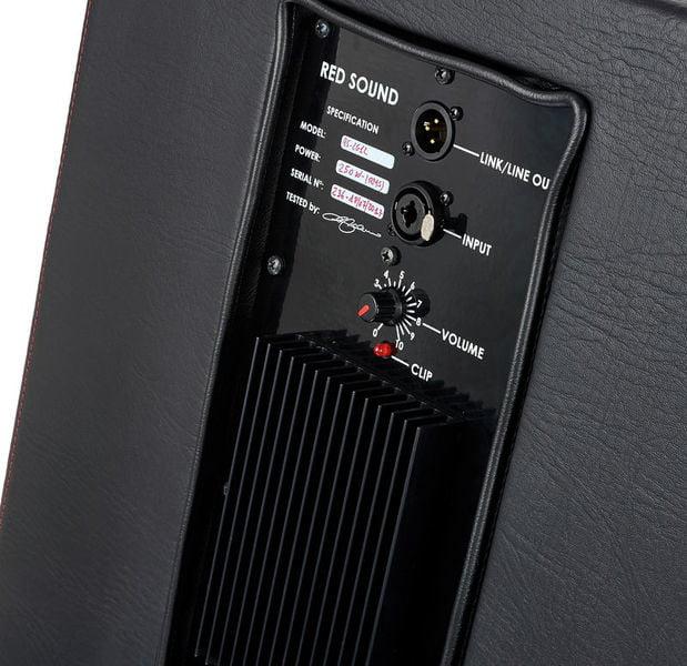 RED SOUND RS-LG12 ACTIVE BLACK CABINET ATTIVO 250 WATT RMS PER PEDALIERA HEADRUSH REALIZZATO A MANO COLORE NERO 2
