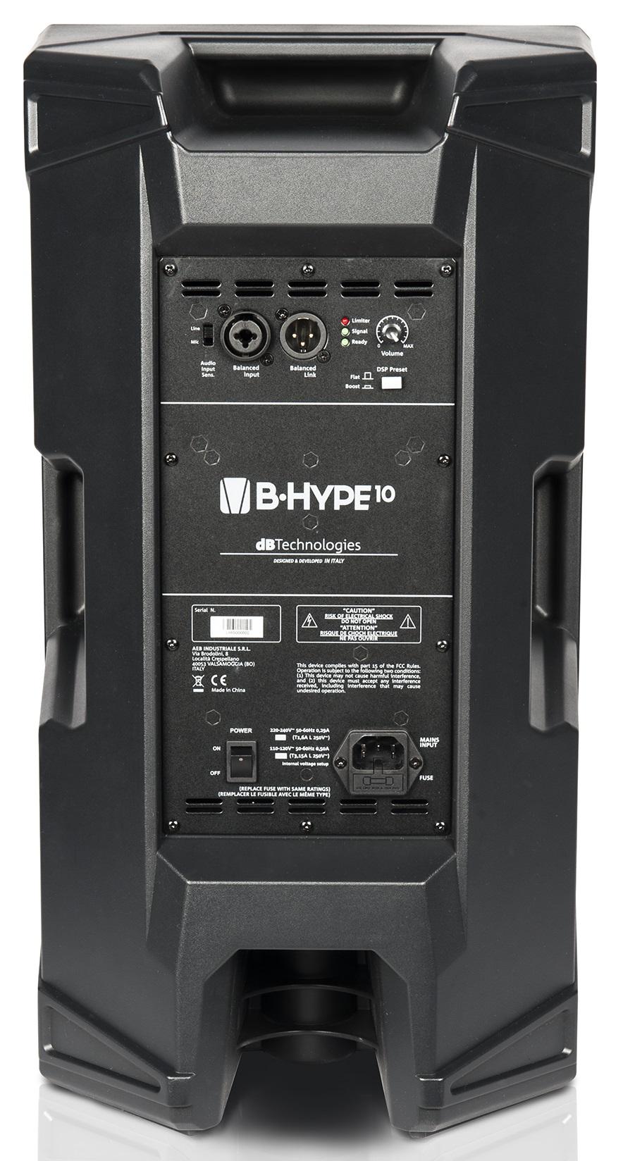 DB TECHNOLOGIES B-HYPE 10 CASSA ATTIVA 2 VIE 260W WOOFER 10 TWEETER 1