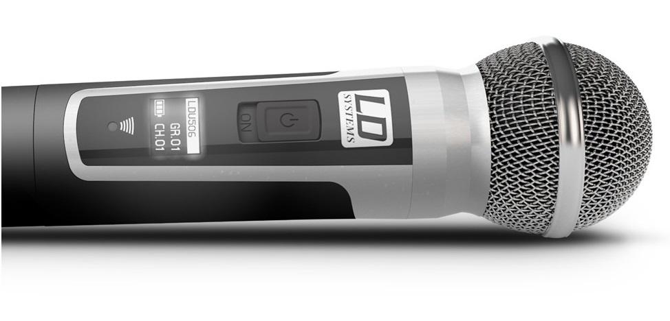 LD SYSTEM U506-HHD RADIOMICROFONO UHF PALMARE TRUE DIVERSITY DISPLAY OLED 2-10-30MW 6