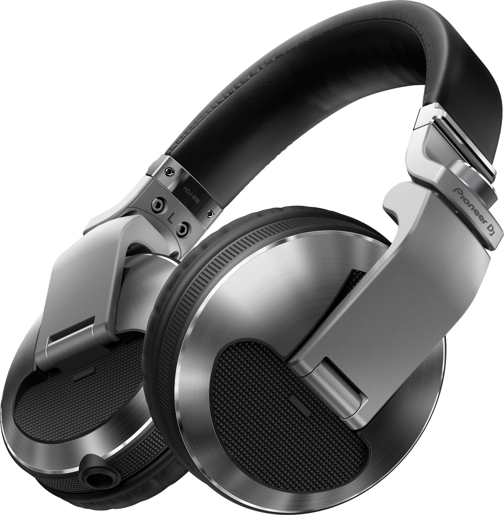 PIONEER HDJ X10S CUFFIA CHIUSA OVER EAR 32 OHM PER DJ + CUSTODIA COLORE  SILVER 0 b6541f8b6f83