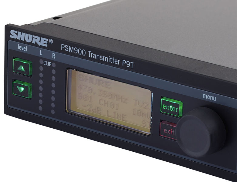 SHURE PSM900 P9TERA SISTEMA IN EAR MONITOR WIRELESS STEREO PROFESSIONALE MONTABILE A RACK 7