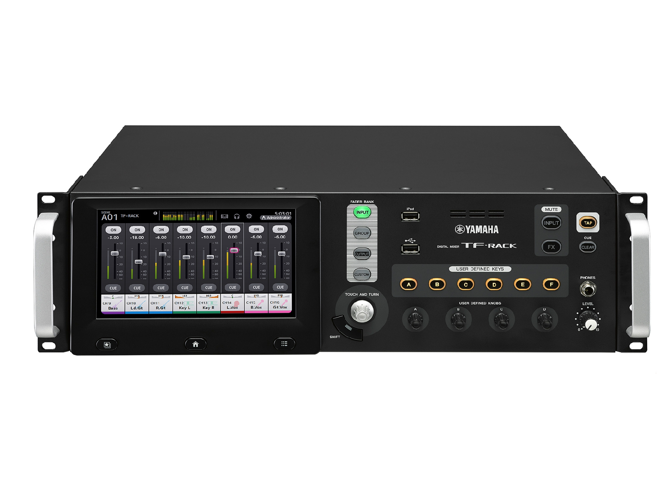 yamaha tf rack mixer digitale montabile a rack 16 mic line. Black Bedroom Furniture Sets. Home Design Ideas