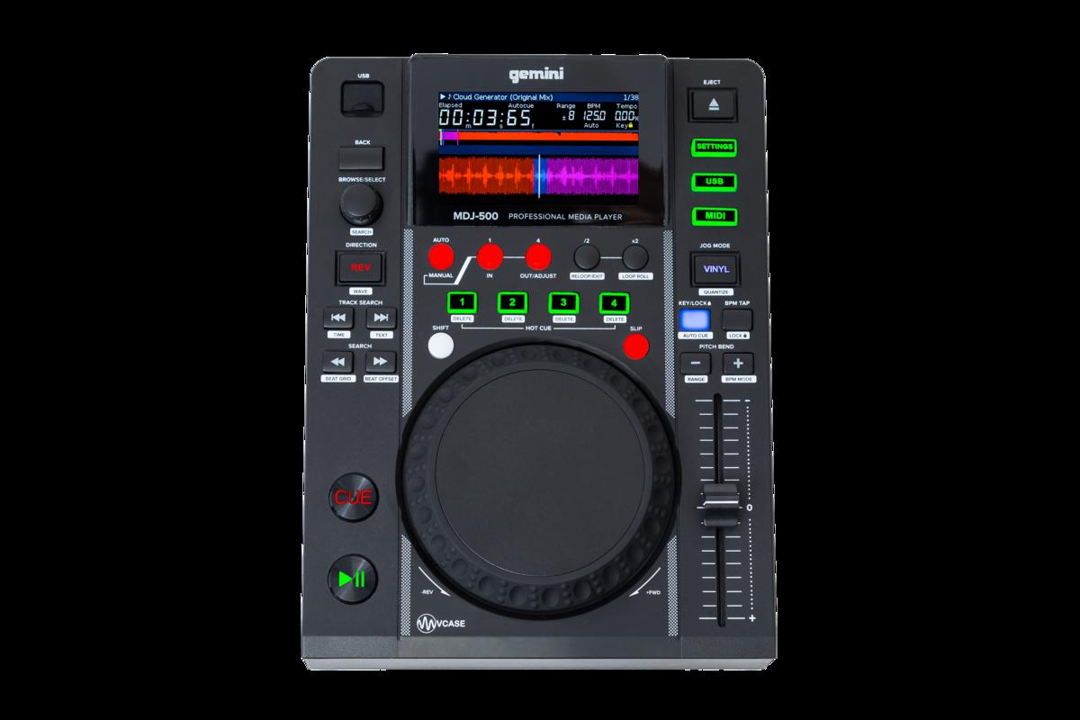 GEMINI MDJ500 MEDIA PLAYER LETTORE MP3 PROFESSIONALE USB PER DJ 1