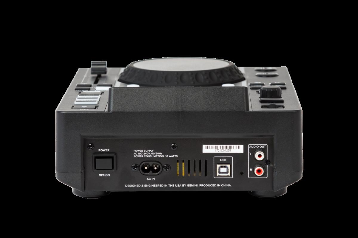 GEMINI MDJ500 MEDIA PLAYER LETTORE MP3 PROFESSIONALE USB PER DJ 4