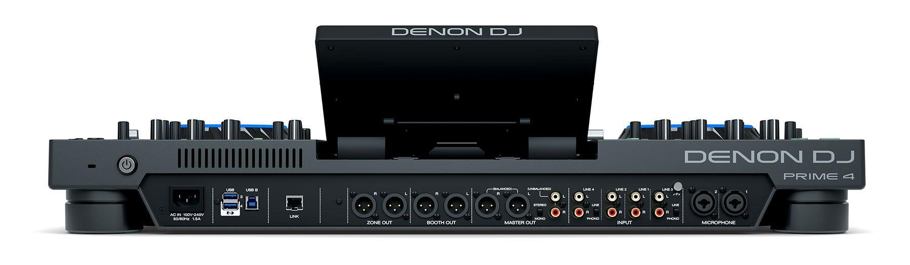 DENON DJ PRIME 4 CONSOLE CONTROLLER STANDALONE PER DJ 4 DECK CON TOUCH SCREEN 10 4x USB + SD CARD 1