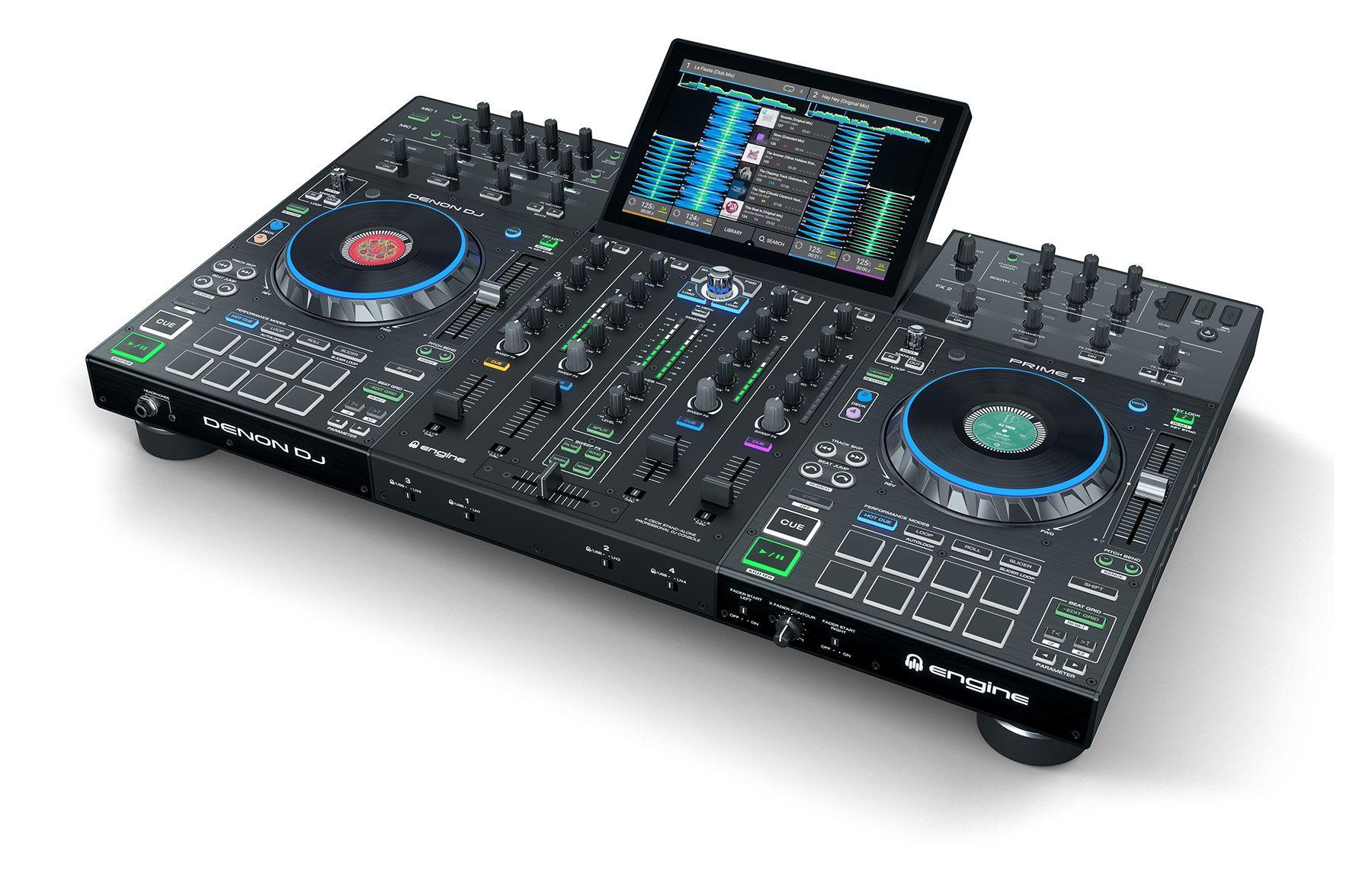 DENON DJ PRIME 4 CONSOLE CONTROLLER STANDALONE PER DJ 4 DECK CON TOUCH SCREEN 10 4x USB + SD CARD 3