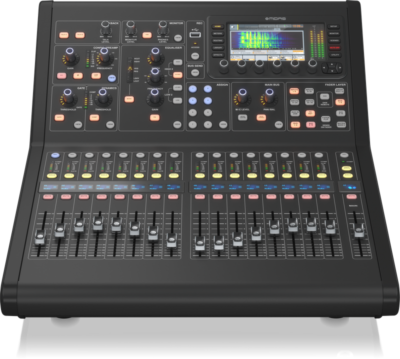 MIDAS M32R LIVE MIXER DIGITALE 40 CANALI 25 BUS 16 PREAMPLIFICATORI MICROFONICI 8 XLR OUT 68 GRUPPI DCAMUTE 17 FADER MOTORIZZATI IOS APP AES50 NETWORK 96 INOUT 0