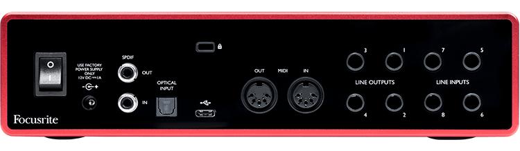 FOCUSRITE SCARLETT 18I8 SCHEDA AUDIO USB TERZA GENERAZIONE ( 3RD GEN ) GENERATION MKIII INTERFACCIA 18 IN 8 OUT PER PC E MAC 1