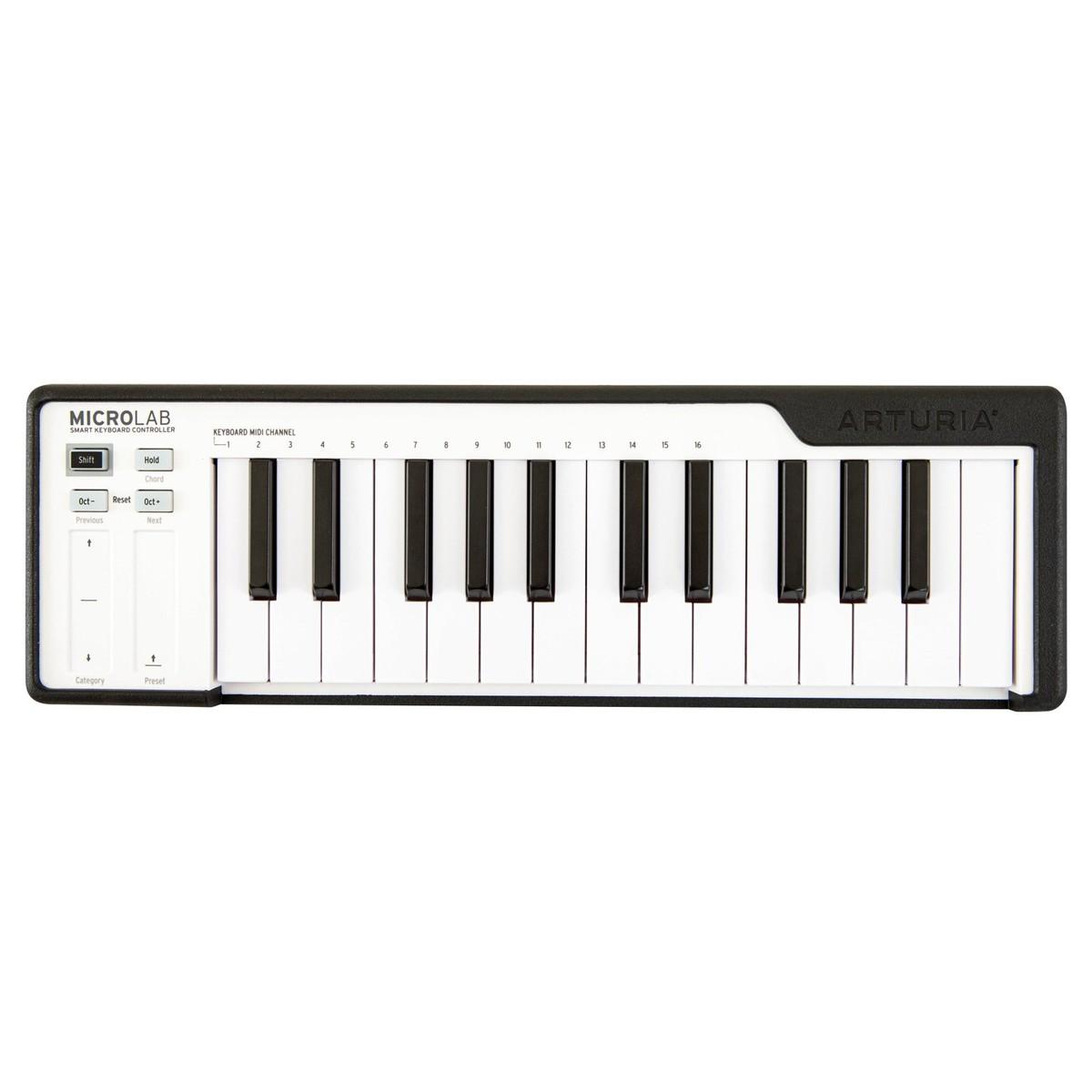 ARTURIA MICROLAB BLACK CONTROLLER TASTIERA 25 TASTI MINI MIDI - USB COLORE NERO