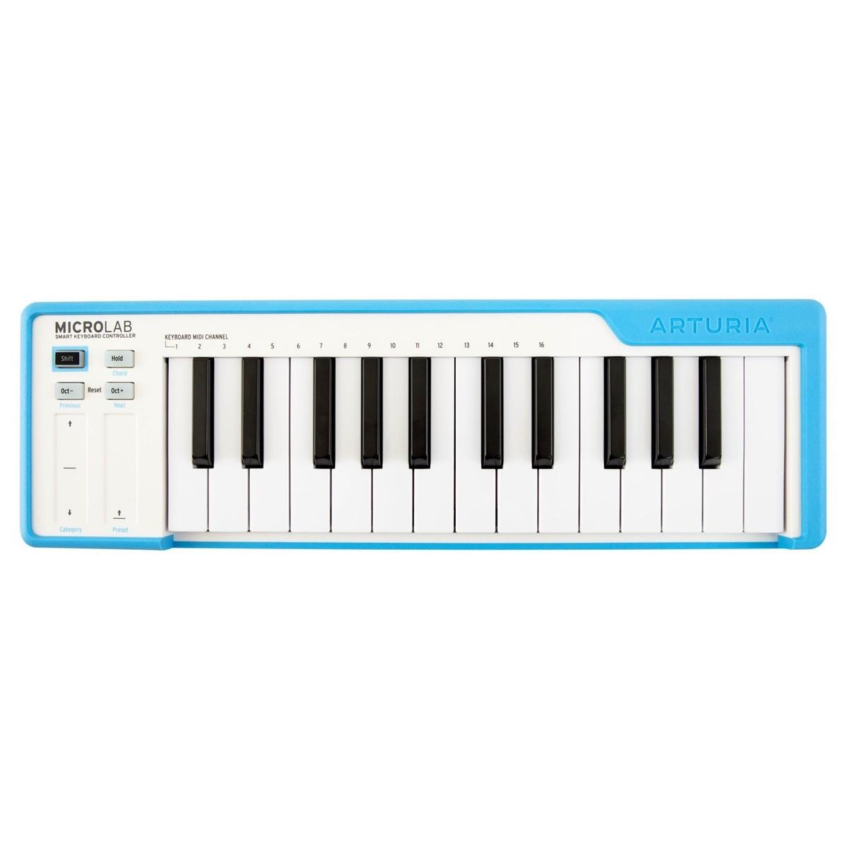 ARTURIA MICROLAB BLUE CONTROLLER TASTIERA 25 TASTI MINI MIDI - USB COLORE BLU