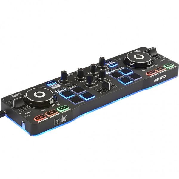 HERCULES DJ CONTROL STARLIGHT CONTROLLER DIGITALE DOPPIO DECK COMPATTO USB 1