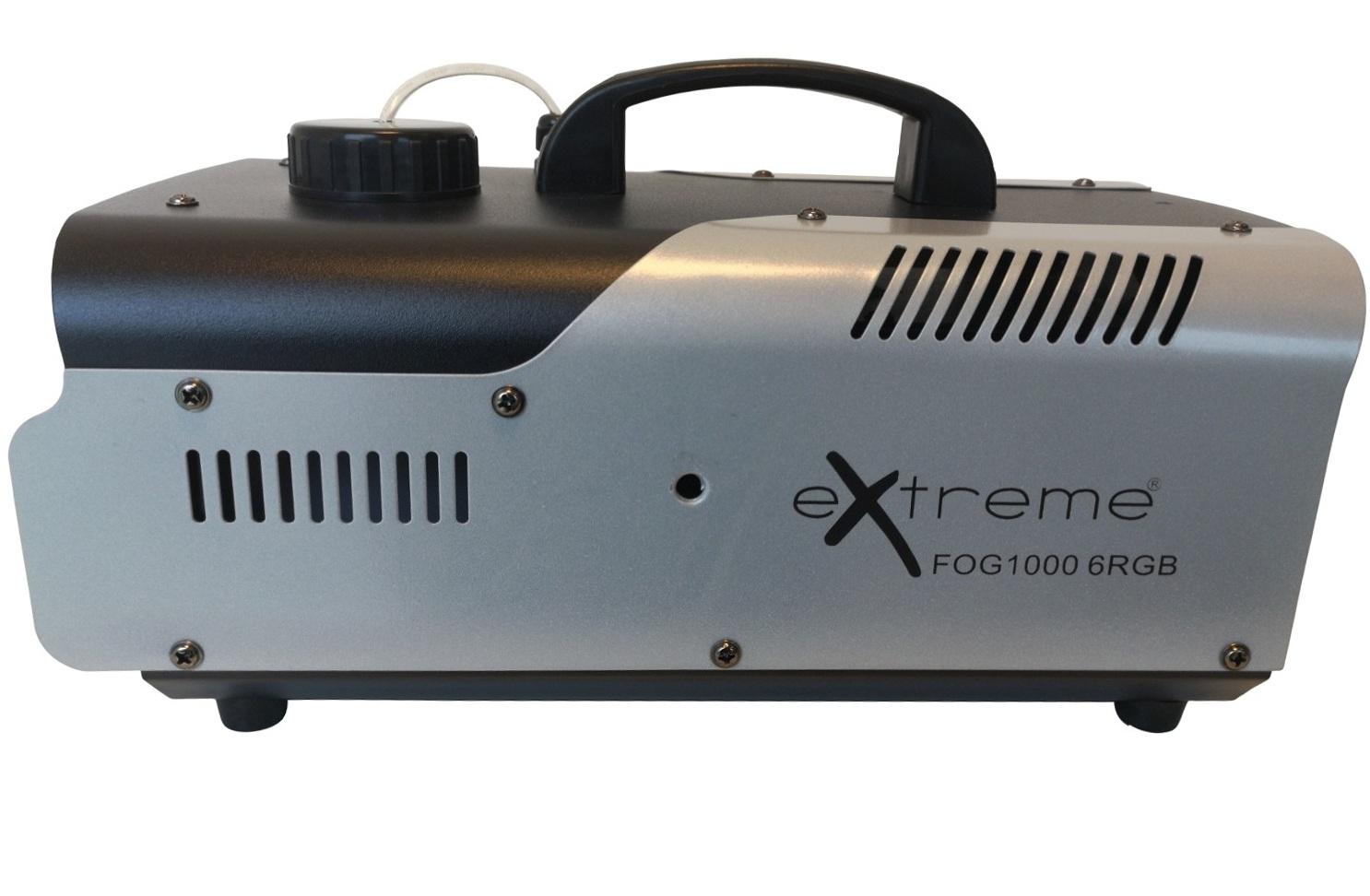 EXTREME FOG 1000 6RGB MACCHINA DEL FUMO 1000 WATT CON 6 LED DA 3 WATT RGB CONTROLLO WIRELESS 1