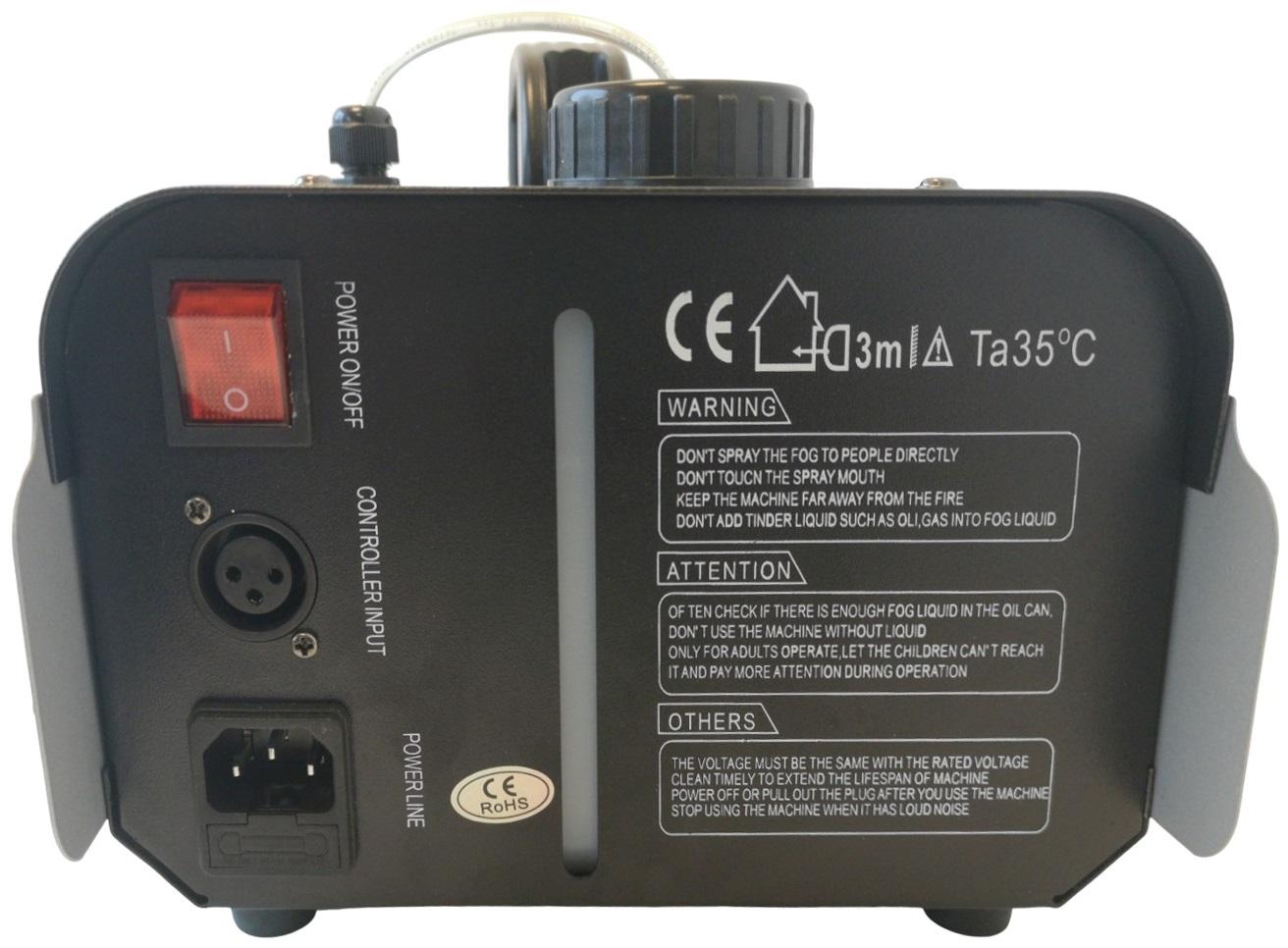 EXTREME FOG 1000 6RGB MACCHINA DEL FUMO 1000 WATT CON 6 LED DA 3 WATT RGB CONTROLLO WIRELESS 2