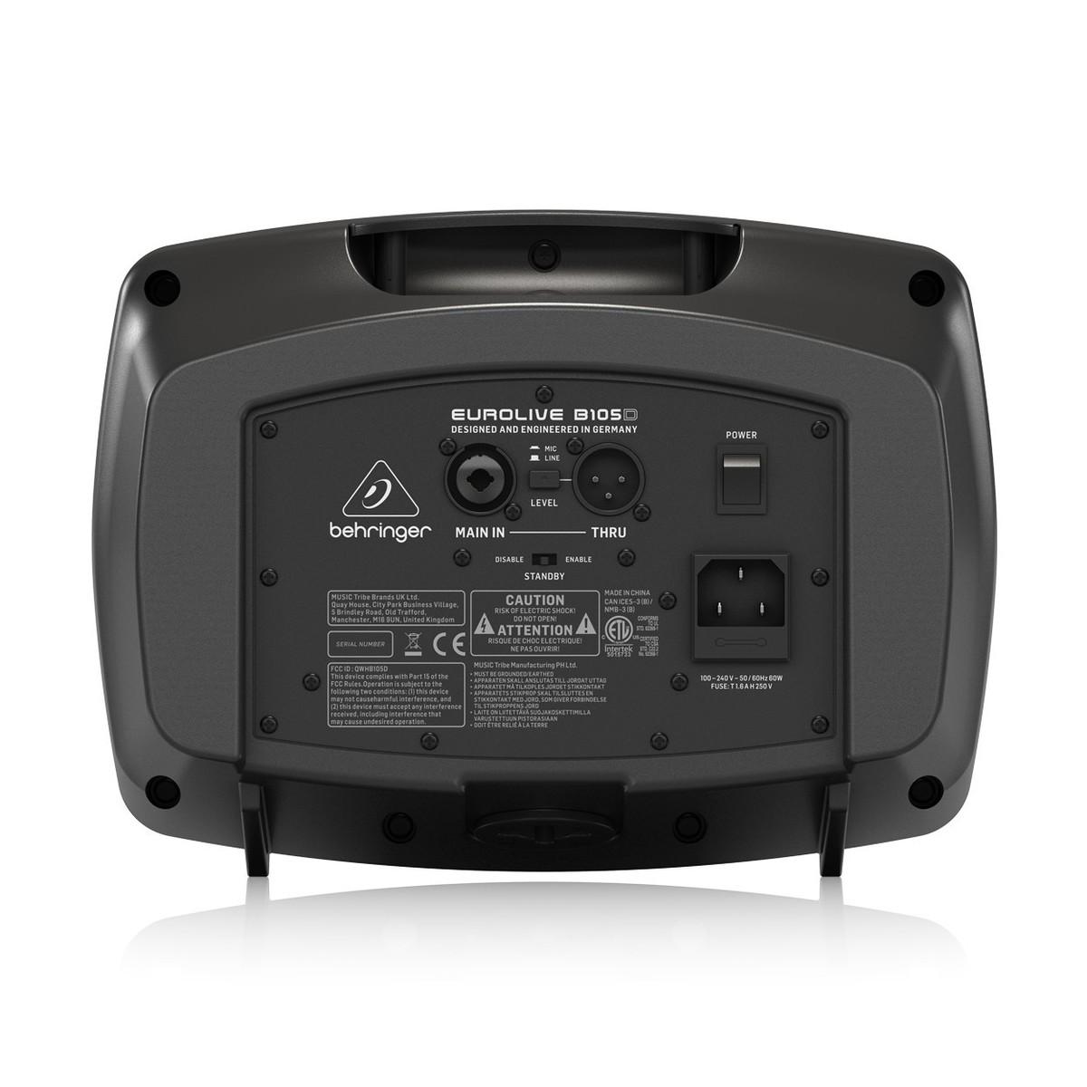 BEHRINGER B105D CASSA PORTATILE MULTIUSO 50 WATT CON LETTORE MP3 E BLUETOOTH 1